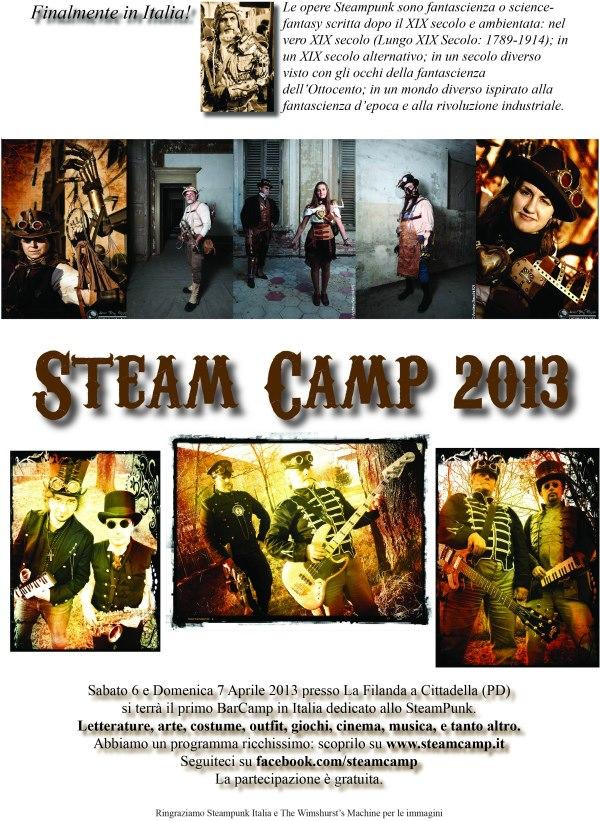 Prima Locandina dello Steamcamp