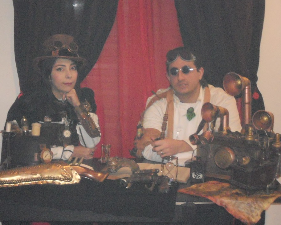 Screenshot dell'intervista a Steampunk Italia