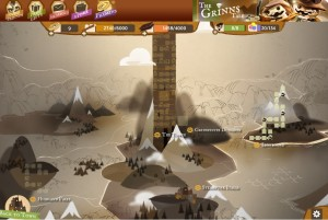 La mappa del mondo di The Grinns Tales con il villaggio STEAMPUNK ITALIA!!
