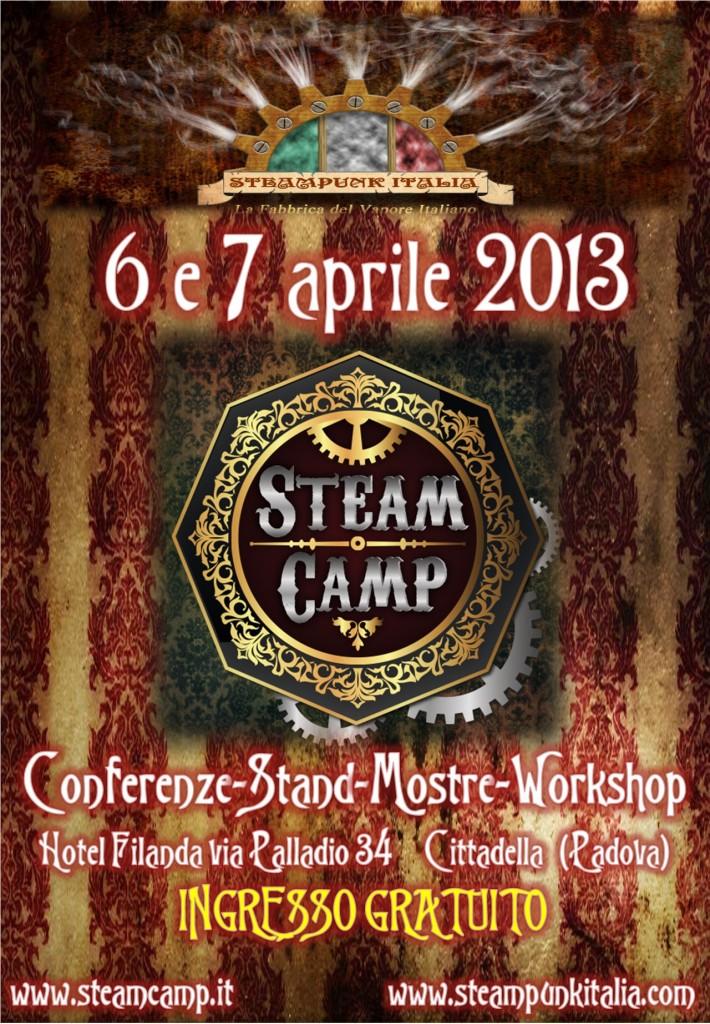 La locandina di Steampunk Italia per lo Steamcamp
