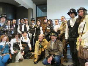 Steampunk Italia e alcuni Steamer presenti all'evento