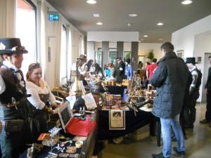 una parte del mercatino steampunk