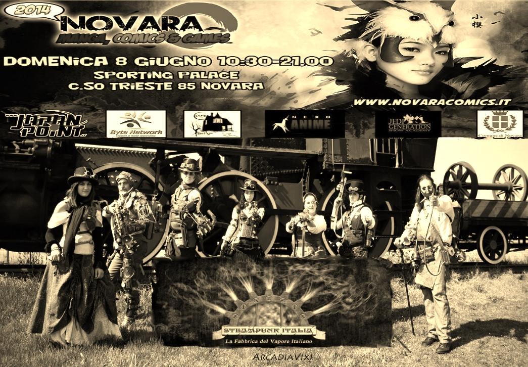 Steampunk Italia al Novara Comics 2014